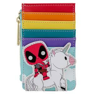 Pop By Loungefly Marvel Deadpool 30th Anniversary Unicorn Rainbow Cardholder