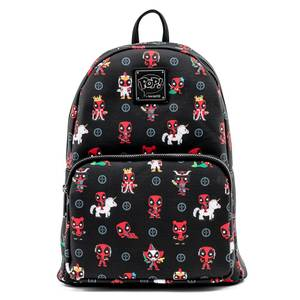 Pop By Loungefly Marvel Deadpool 30th Anniversary AOP Mini Backpack