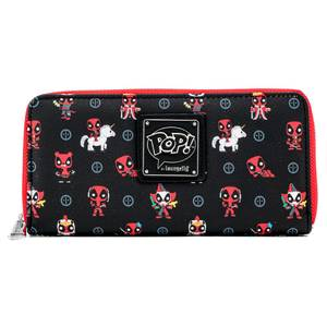 Pop By Loungefly Marvel Deadpool 30th Anniversary AOP Zip Around Wallet