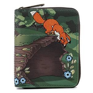 Loungefly Disney Fox and Hound Copper Todd Zip Around Wallet