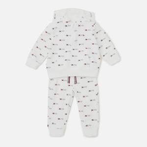Tommy Hilfiger Baby Hooded Jogger Set - White