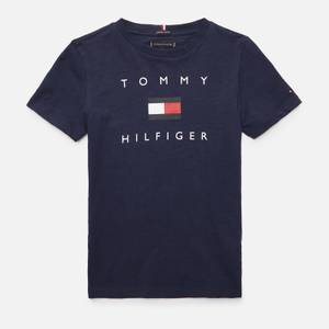 Tommy Hilfiger Boys' Hilfiger Logo T-Shirt - Navy