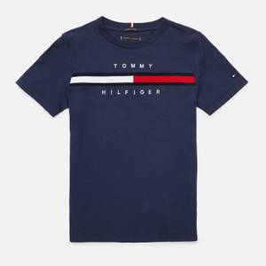 Tommy Hilfiger Boys' Flag Rib Insert T-Shirt - Navy