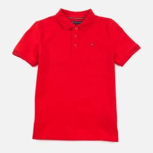 Tommy Hilfiger Boys' Slim Fit Polo-Shirt - Deep Crimson