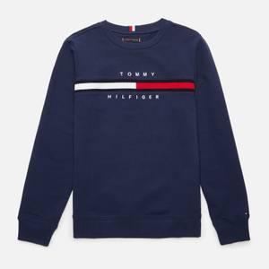 Tommy Hilfiger Boys' Flag Rib Insert Sweatshirt - Navy