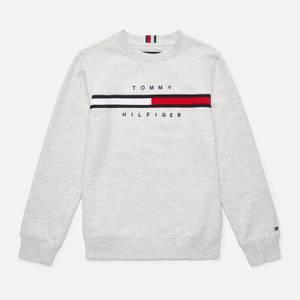 Tommy Hilfiger Boys' Flag Rib Insert Sweatshirt - Light Grey Heather