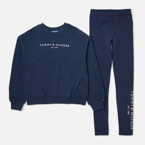 Tommy Hilfiger Girls' Essential Sweatshirt and Leggings Set - Navy