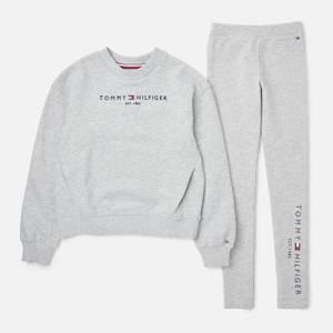 Tommy Hilfiger Girls' Essential Sweatshirt and Leggings Set - Grey Heather
