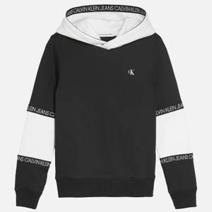 Calvin Klein Jeans Boy's Colour Block Tape Hoodie - Black