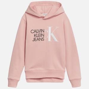 Calvin Klein Jeans Girl's Hybrid Logo Hoodie - Sand Rose