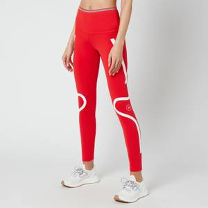 adidas by Stella McCartney Women's Truepace Long Primeblue Tights - Red