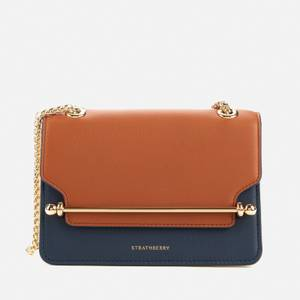 Strathberry Women's East/West Tri Colour Mini Shoulder Bag - Navy/Vanilla/Tan