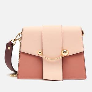 Strathberry Women's Box Crescent Tri Colour Bag - Rose/Soft Pink/Purple Potion