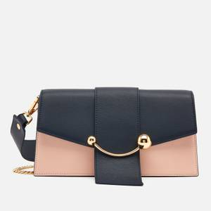 Strathberry Women's Mini Crescent Tri Colour Bag - Soft Pink/Navy/Rose