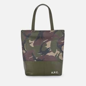A.P.C. Men's Camden Shopping Bag - Military Khaki