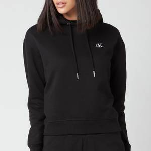 Calvin Klein Jeans Women's Embroidered Logo Hoodie - CK Black