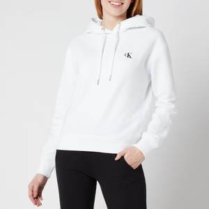 Calvin Klein Jeans Women's Embroidered Logo Hoodie - Bright White