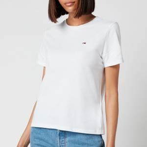 Tommy Jeans Women's Regular Crew Neck T-Shirt - White
