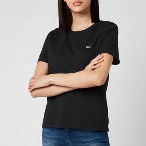 Tommy Jeans Women's Regular Crew Neck T-Shirt - Black