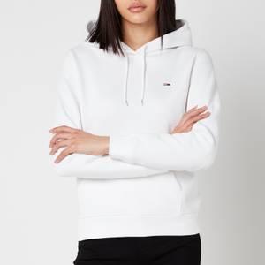Tommy Jeans Women's Regular Fleece Hoodie - White