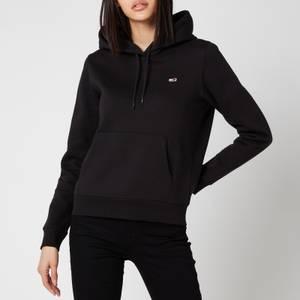 Tommy Jeans Women's Regular Fleece Hoodie - Black