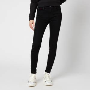 Tommy Jeans Women's Nora Mid-Rise Skinny Jeans - Black