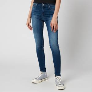 Tommy Jeans Women's Nora Mid-Rise Skinny Jeans - Niceville Mid Blue