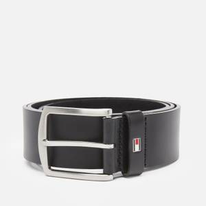 Tommy Hilfiger Men's New Denton 4.0 Leather Belt - Black