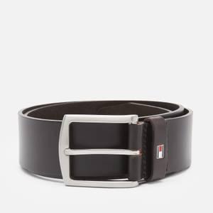 Tommy Hilfiger Men's New Denton 4.0 Leather Belt - Testa Di Moro