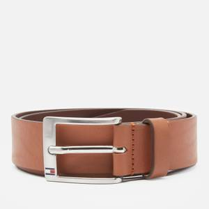 Tommy Hilfiger Men's New Aly 3.5 Leather Belt - Dark Tan