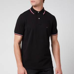 Tommy Hilfiger Men's Core Tommy Tipped Polo Shirt - Black