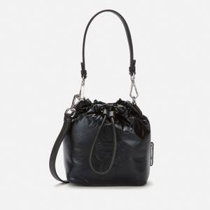 KARL LAGERFELD Women's K/Ikonik Nylon Bucket Bag - Black