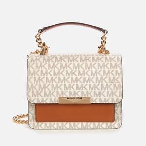 MICHAEL Michael Kors Women's Jade XS Gusset Cross Body Bag - Vanilla/Acorn