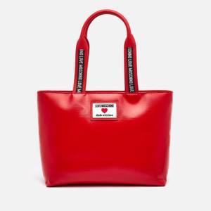 Love Moschino Women's Heart Logo Tote Bag - Red