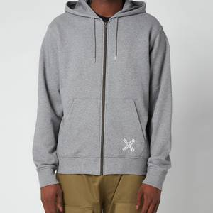 KENZO Men's Sport Full Zip Hooded Sweatshirt - Dove Grey