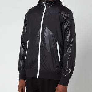 KENZO Men's Sport Zip Through Hooded Windbreaker - Black