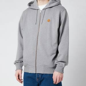 KENZO Men's Tiger Crest Full Zip Hooded Sweatshirt - Dove Grey