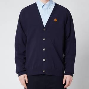 KENZO Men's Tiger Crest V-Neck Cardigan - Navy Blue