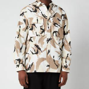 KENZO Men's Tropic Camo Printed Overshirt - Off White