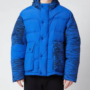 KENZO Men's Printed Puffer Jacket - Royal Blue