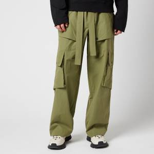 KENZO Men's Oversized Cargo Pants - Kaki Moleskin