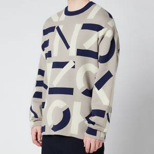 KENZO Men's Monogram Jumper - Dove Grey