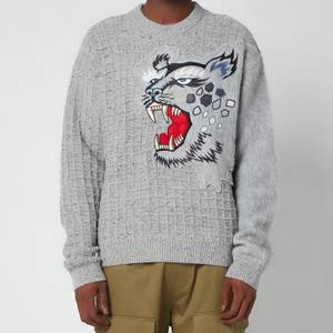 KENZO Men's Embroidered Jumper - Dove Grey