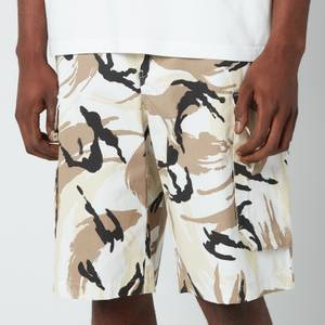KENZO Men's Tropic Camo Printed Cargo Shorts - Off White