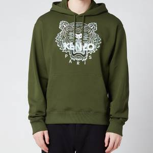 KENZO Men's Tiger Classic Hooded Sweatshirt - Dark Khaki