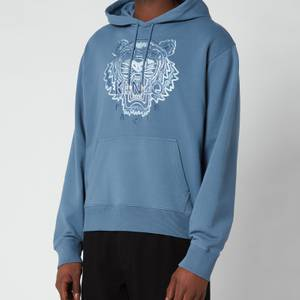 KENZO Men's Gradient Tiger Classic Hooded Sweatshirt - Blue