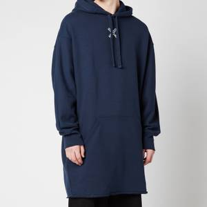 KENZO Men's Sport Long Hooded Sweatshirt - Midnight Blue