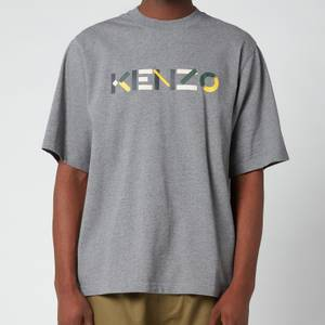KENZO Men's Multicolour Logo T-Shirt - Dove Grey