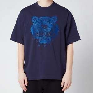 KENZO Men's Light Tiger Oversized T-Shirt - Navy Blue