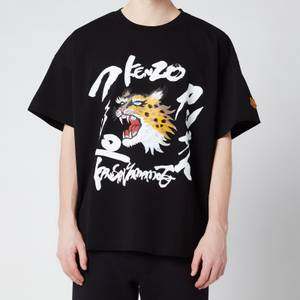 KENZO Men's Seasonal Logo Boxy T-Shirt - Black